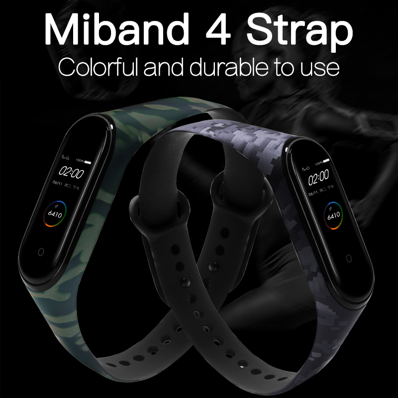 Image 2 - BOORUI for Xiaomi Mi Band 4 Strap Silicone printing flowers miband NFC 4 strap miband 4 accessories for xiaomi mi band 4 band-in Smart Accessories from Consumer Electronics