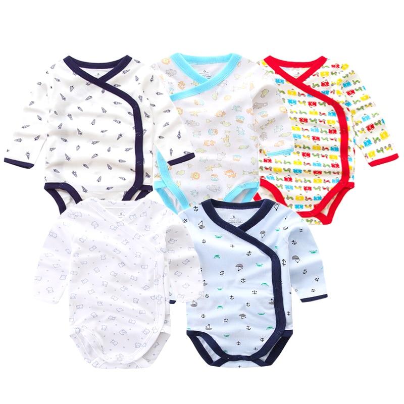 5 шт./лот Детские боди для новорожденных на осень 100% хлопковые боди с длинными рукавами для малышей; Нижнее белье; Комбинезоны для новорожденных мальчиков пижамы для девочек, одежда 1