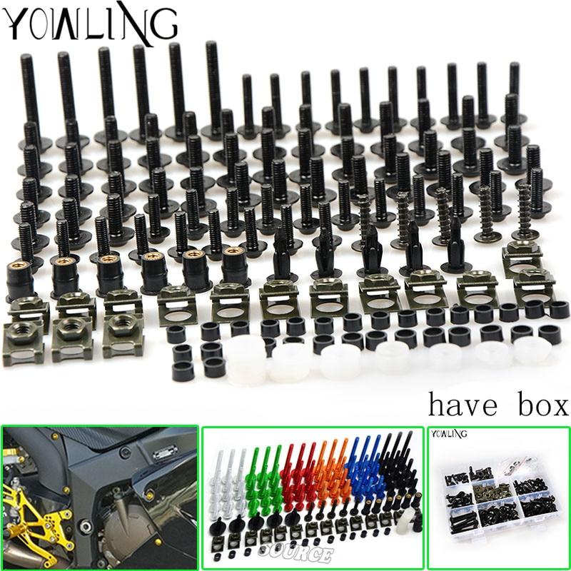 Fairing bolts For HONDA VFR800 VFR 800 800F 2002-2012 Body Fairing Bolt Screw Fastener Fixation Kit unpainted white injection molding bodywork fairing for honda vfr 1200 2012 [ck1051]