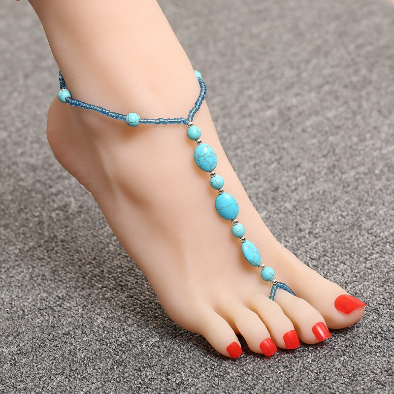 2016 Women 20 Styles Anklet Bead Ankle Bracelet Fashion Natural stone Anklets for Women Foot Jewelry Hot Sale Body Chains