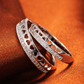 925 Silver Ring wholesale Korean couple rings Micro Pave Jewelry Silver ring for men and women