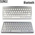 Ultra delgado teclado inalámbrico bluetooth teclado qwerty bluetooth ligero portátil para ipad de windows del ordenador portátil
