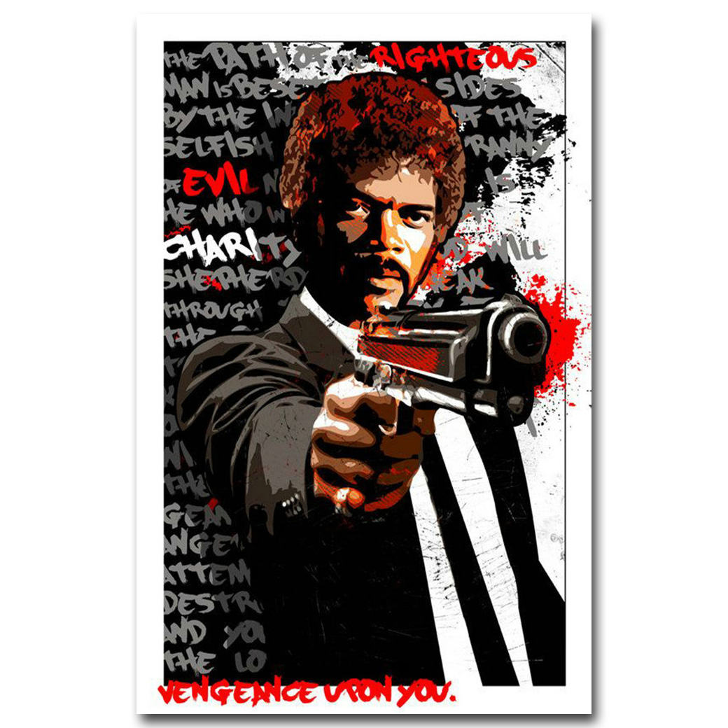 Pulp Fiction Poster Classic Film Movie Art Silk Posters Print 13x20 inch