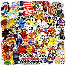 300 PCS Mix Funny Stickers for Laptop Skateboard Luggage Car Styling Bike JDM Doodle Decals Home Decor Cool Waterproof Sticker 300 pcs mix funny stickers for laptop skateboard luggage car styling bike jdm doodle decals home decor cool waterproof sticker