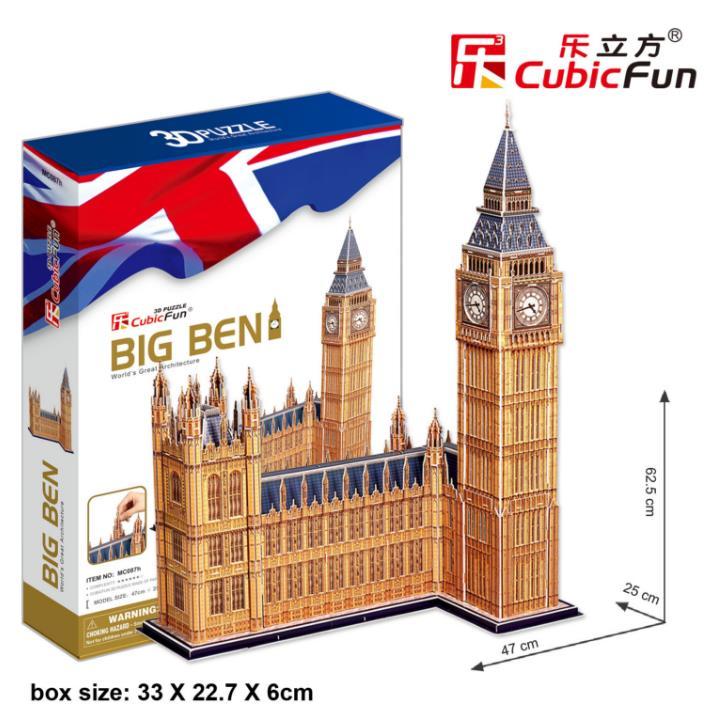 117 pièces BIG BEN Tour Elizabeth 3D Papier Modèle Kits bricolage Jouet Fait Main