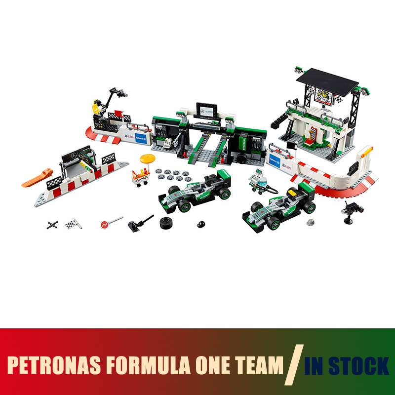 Compatible Lego city 75883 Models Building Toy MERCEDES AMG PETRONAS FORMULA ONE TEAM 28006 Building Blocks Toys & Hobbies compatible with lego technic 75883 lepin 28006 1016pcs amg petronas formula one team building blocks bricks toys for children