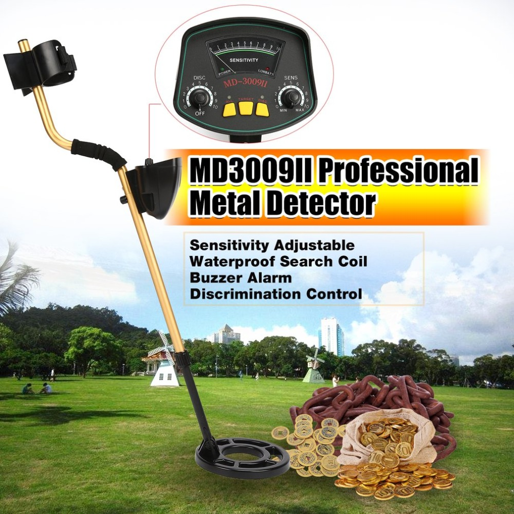 MD3009II Professional Underground Metal Detector Handheld Treasure Hunter Gold Digger Finder Waterproof Sensitive AdjustableMD3009II Professional Underground Metal Detector Handheld Treasure Hunter Gold Digger Finder Waterproof Sensitive Adjustable