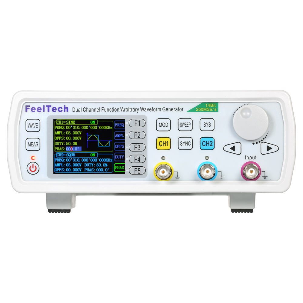 High Precision FY6600-50M Digital signal generator DDS Function Generator Dual-channel Frequency Meter 250MSa/s 14bits 50MHz 5032 osc 50m 50mhz 50 000mhz sg5032can
