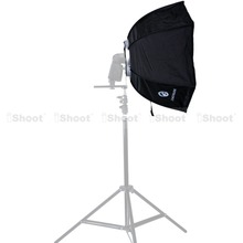 46cm Foldable Hexagonal Speedlite Flash Softbox Diffuser Reflector with Normal Sizzling Shoe Mount for Canon Nikon Metz Speedlight