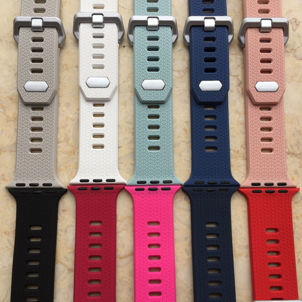 Colorful Sports soft silicone Band For Apple watch Series 3 2 1 38mm 42mm Replace Bracelet Strap wrist watchband WatchstrapColorful Sports soft silicone Band For Apple watch Series 3 2 1 38mm 42mm Replace Bracelet Strap wrist watchband Watchstrap