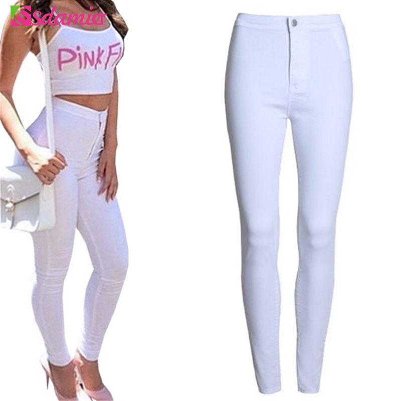 XS-XXL Fashion High Waist Jeans Femme Sexy Slim Skinny Jeans Woman Elastic Pencil Pants Female Denim Jeans For Women 9 Colors