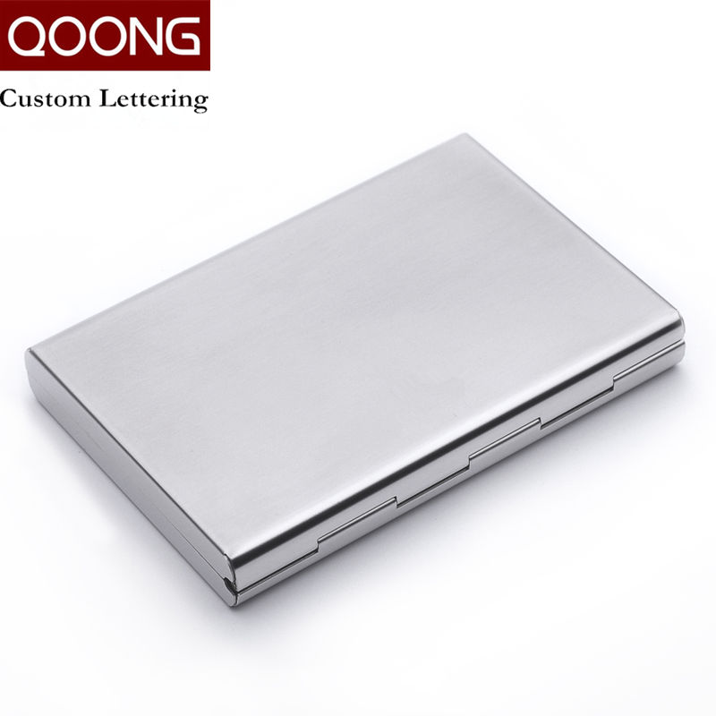 QOONG Rostfritt Stål RFID Blockering ID Bankkortet Väska Protector - Plånböcker - Foto 4