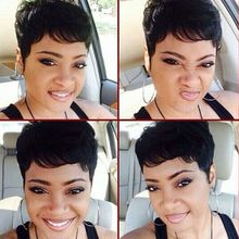 1 Pcs/Lot 27 Pieces Short Hair Weave 7A Virgin Brazilian Human In Hair With Free Closure Short Bump Weave Style with Shower Cap