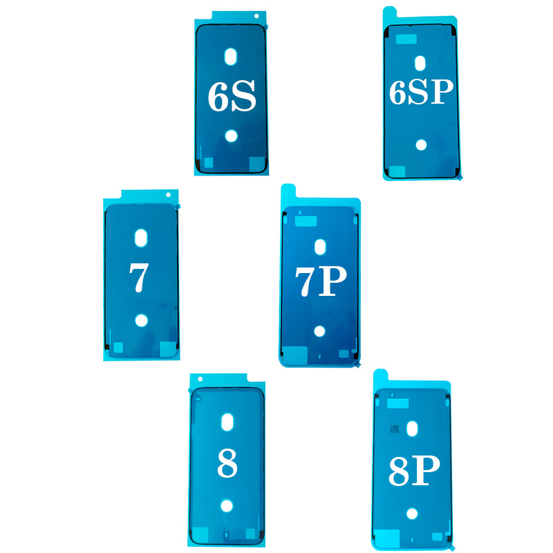 1pc Waterproof Sticker for iPhone 7 6S Plus 7Plus 8 X 8P 3M Adhesive Pre-Cut LCD Screen Frame Tape Repair Parts