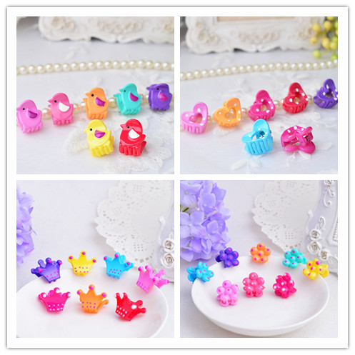 10pcs/lot Cute kids hair claws Crown hair accessories Princess girls hair clips Hot-sale Barrette Top-end Hairgrips Basin 5 pcs lot hot sale korean hair accessories candy colors small flower hair claws gripper cute kids girls plastic hairpins