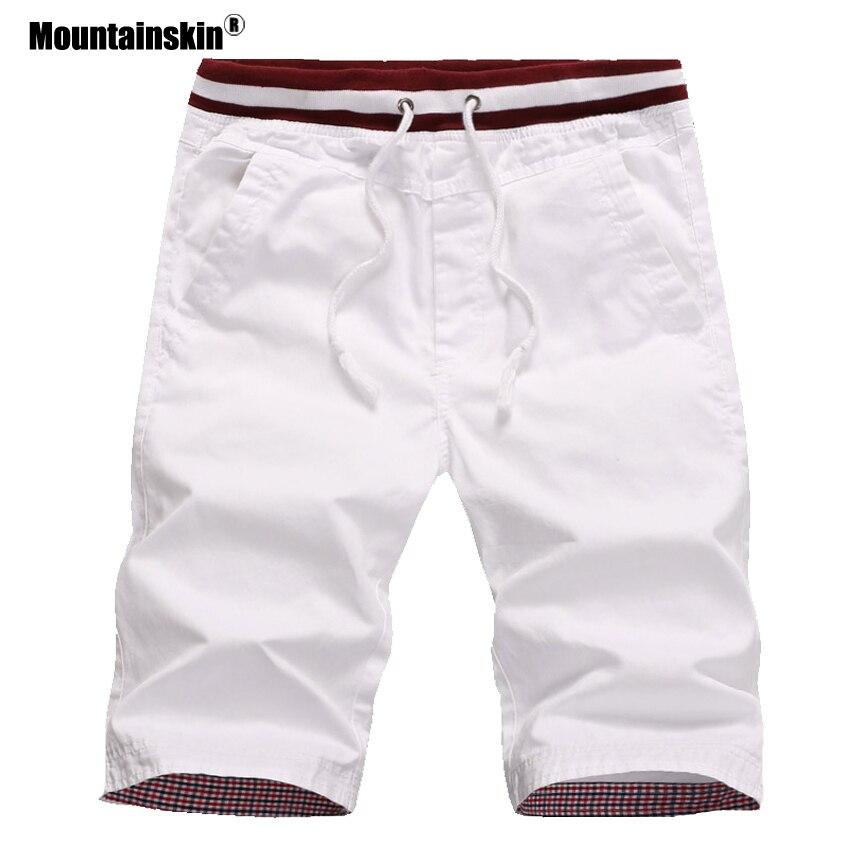 Mountainskin 4XL Men's Summer Shorts Men Beach Shorts Cotton Casual Shorts Breathable Homme Men Brand Clothing SA411