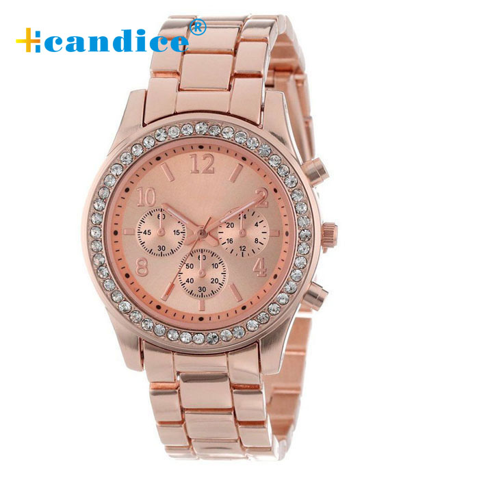 Luxury Brand Fashion Casual Ladies Watch Women Rhinestone Watches Dress Rose Gold Quartz Female Clock Montre Femme Relojes Mujer relojes mujer 2016 fashion luxury brand quartz men women casual watch dress watches women rhinestone japanese style quartz watch
