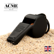 ACME60.5 carbon black referee/coach whistle metal laser engraving survival cheerleadind outdoor emergency camping tool