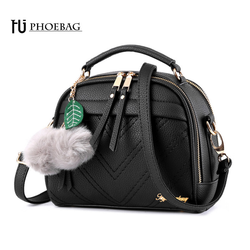 HJPHOEBAG Women PU leather Shoulder Bags Small Shell bag fashion Messenger CrossBody Bag Lady elegant Handbag Travel Clutch Z-63 jooz brand luxury belts solid pu leather women handbag 3 pcs composite bags set female shoulder crossbody bag lady purse clutch