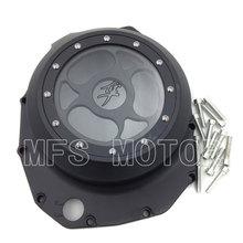 Motorcycle Accessories See through Engine Clutch Cover For Suzuki GSX1300R Hayabusa 1999-2013 B-king 2008-2009 Black