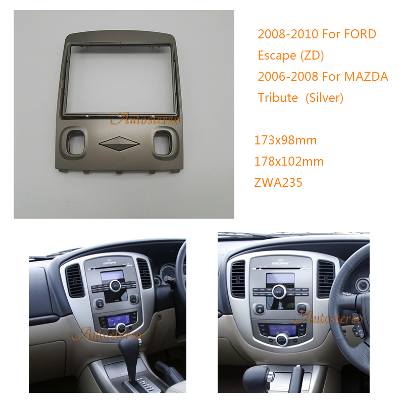 Detail Feedback Questions About Zwnav 11 235 Car Radio Installation Dash Mount Kit Stereo Install For Ford Escape Zd Mazda Tribute Silver 2 Din On