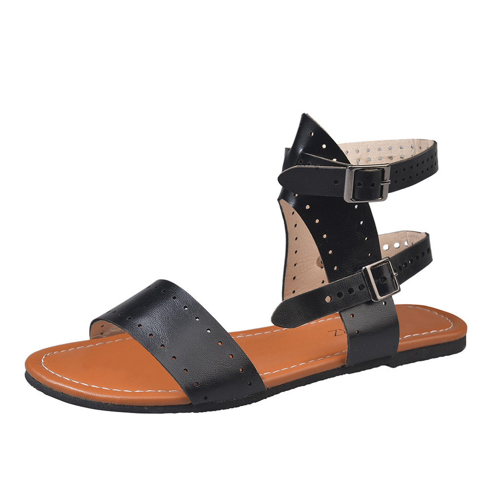 Women Sandals Flat Roman Shoes Summer Fashion Ladies Buckle Strap Slip-on Casual Shoes Sandals zapatos de mujer 2019 NewWomen Sandals Flat Roman Shoes Summer Fashion Ladies Buckle Strap Slip-on Casual Shoes Sandals zapatos de mujer 2019 New