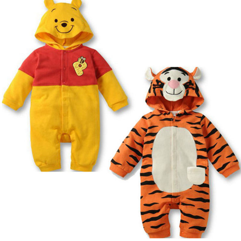 Baby Autumn clothes jumpsuit baby   romper   animal tiger costume newborn baby girl boy clothes hooded suit newborn clothing outfits