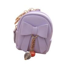 Female Cute Short Wallet Tassel Coin Purse Card Holders Key Handbag Zipper Bow Mini Clutch Bag Women Mini Wallet Purses