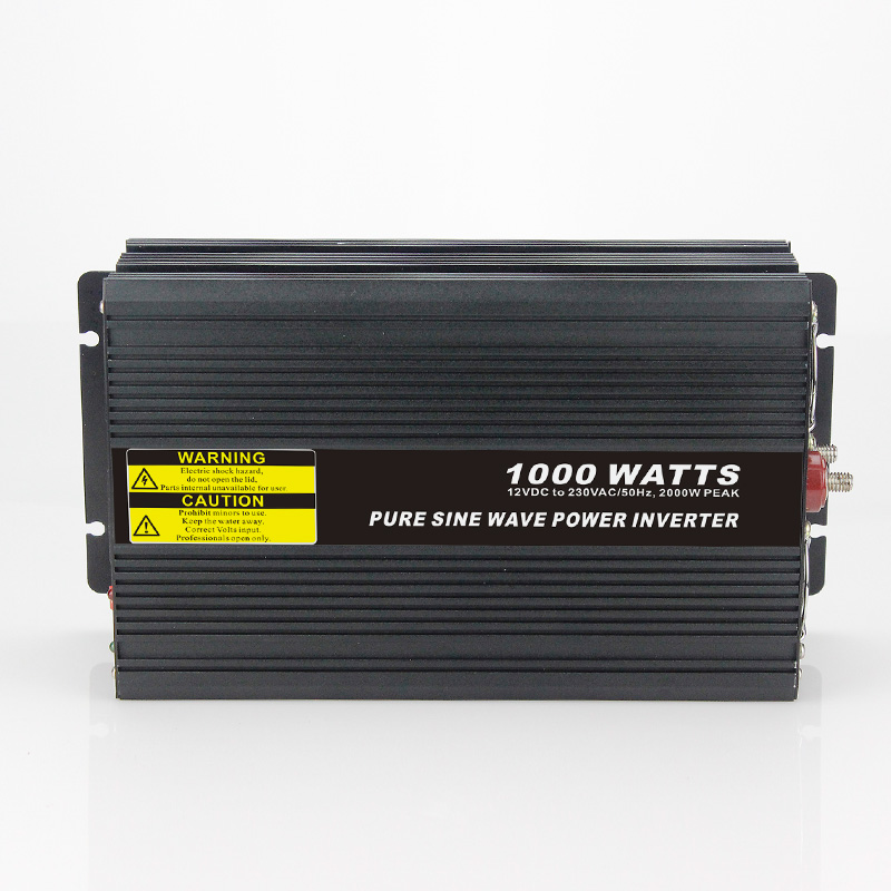 High efficiency 1000W Car Power Inverter Converter DC 12V to AC 110V or 220V Pure Sine Wave Peak 2000W Power Solar inverters 500w solar inverters 85 125v grid tie inverter to ac120v or 230v high efficiency for 72v battery adjustable power output
