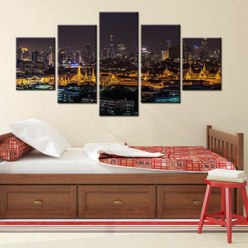 Thailand Bangkok Night View Scene Picture Landscape Wall