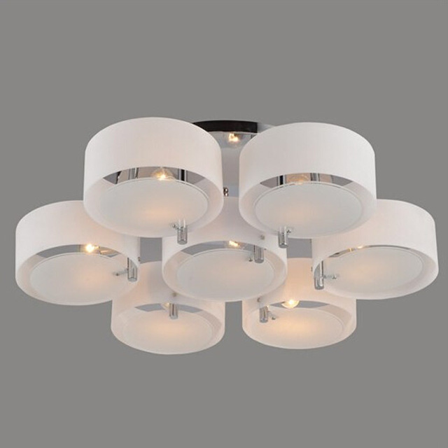 Fashion Acryl Glass E27/E26 Ceiling Light Modern Brief Living Room Light Bedroom Lamp Restaurant Kitchen Lamps Round Lamp WCL005