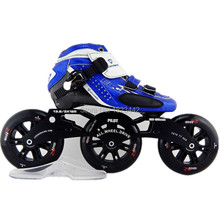 E model speed handmade inline skating shoes red and black roller skates with 125mm speed skate