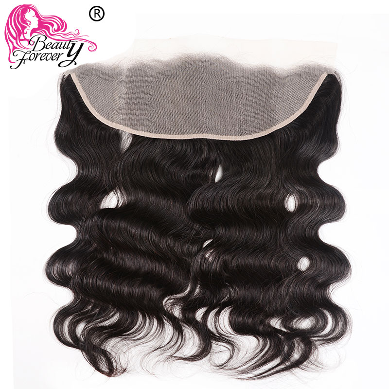 Beauty Forever Brazilian Body Wave Lace Frontal 13*4 Transparent Lace Frontal  Natural Color Remy Human Hair Swiss Lace Frontal