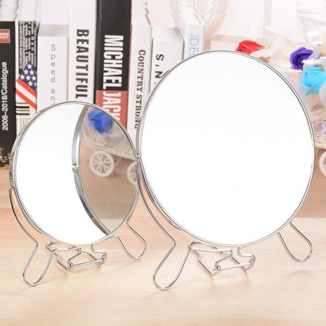 Handmade Wooden Retro Makeup Mirror Desktop Cosmetic Mirror Folding
