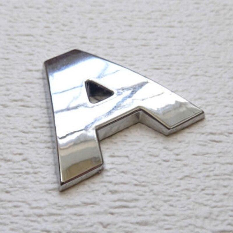 Hot Alphabet Letter Metallic Silver Truck Sticker Car Emblem Badge Decal 3D DIY