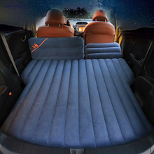Car SUV Flocking Cloth Travel Bed Camping Inflatable Air Mattress Outdoor Multifunctional Back Seat with Air Pump Travel Camping цены онлайн