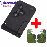 Jingyuqin 3 Buttons Remote Card Key Smart Car Key Fob For Renault Megane Scenic 2003 2008