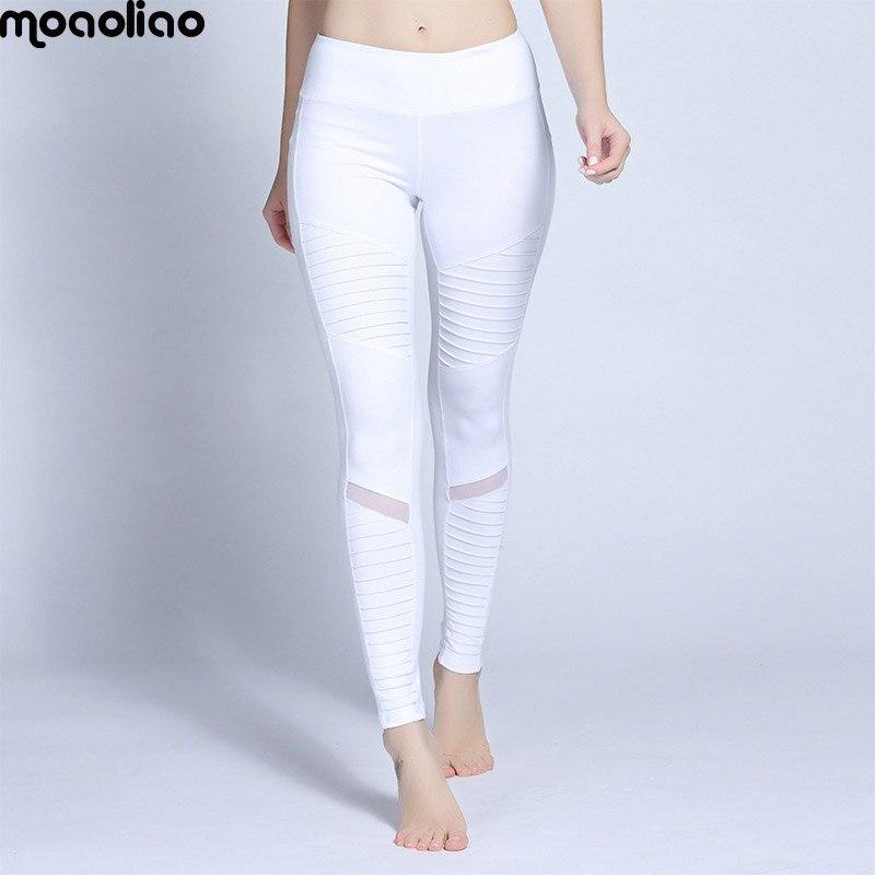 Fitness Sportwear Broek Leggings Herfst Geplooide Mesh Compressie - Sportkleding en accessoires