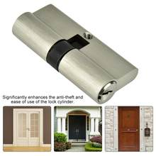 candado Copper Dual Open Lock Cylinder Anti-theft Door Lock Cylinder with Keys smart door lock(China)