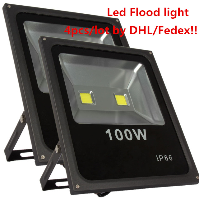4pcs Outdoor lighting 100W Black Body Led Flood light Warm/Cold White 9000lm Floodlight AC85-265V Wateproof Outside Spotlight ultrathin led flood light 100w led floodlight ip65 waterproof ac85v 265v warm cold white led spotlight outdoor lighting