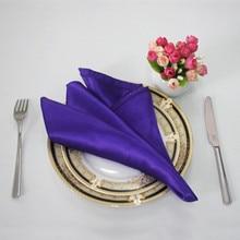 50 шт. 30*30 см Дешевые атласные салфетки свадебный стол ужин салфетки платки карманные домашние вечерние событие банкет украшение стола