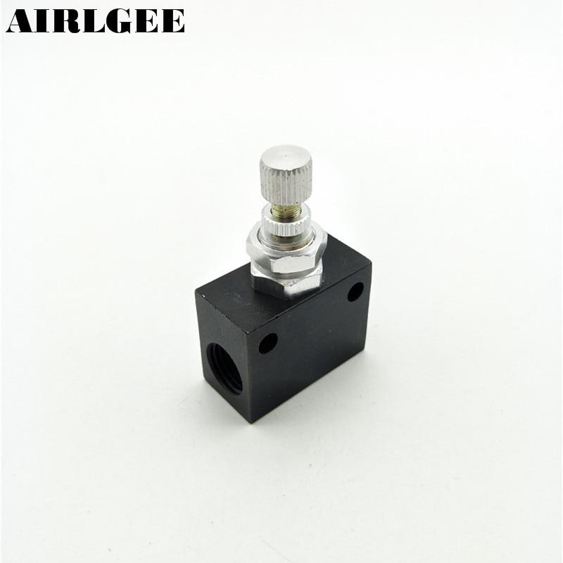 ASC-08 G 1/4 Thread  Dia Throttle valve Restrictive Speed Flow Control Valve g1 2 one way throttle pneumatic flow control valve asc 15
