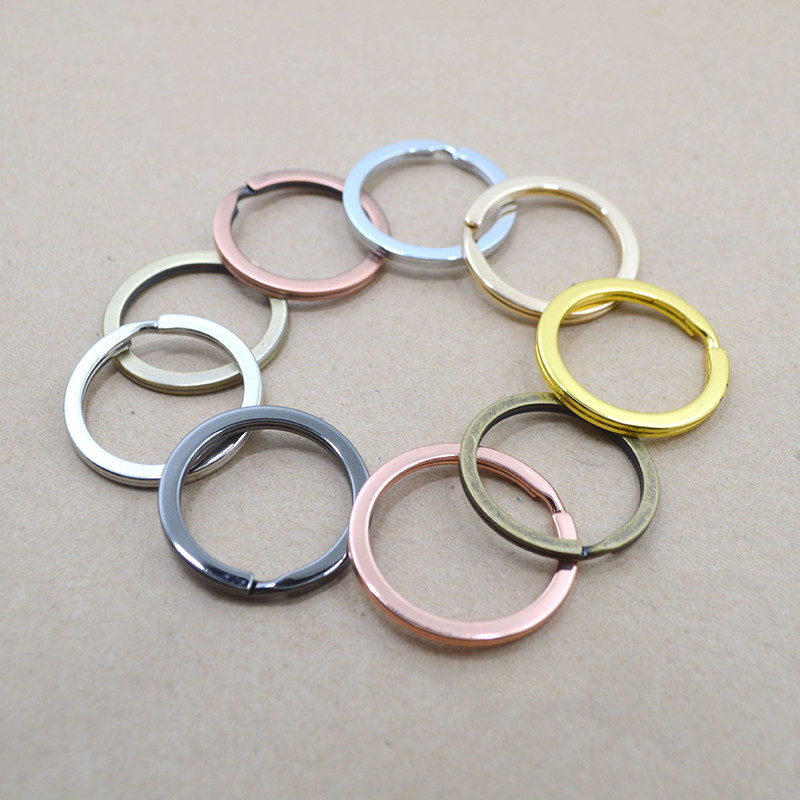 10pcs/lot 25mm 28mm 30mm 6 Colors Key Chains(Never Fade) Split Ring Key Rings For Bag Car DIY Jewelry Making Findings