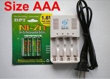 4 Шт. NiZn AAA Ni-Zn 1.6 В 1000mWh Аккумуляторная Батарея + NiZn смарт-Зарядное Устройство