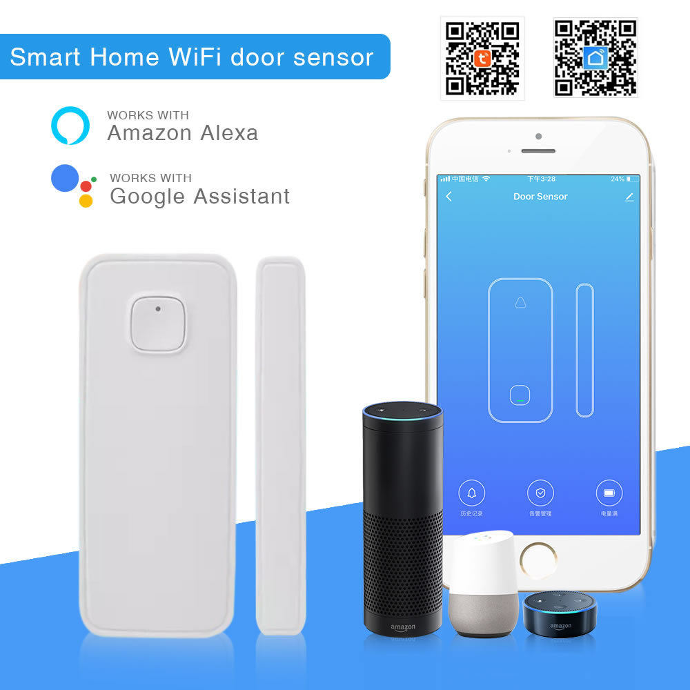 WiFi Home Door And Window Magnetic Alarm Smart Life APP Intelligent Control Tuya