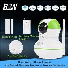 Главная Системы Видеонаблюдения Baby Monitor Wi-Fi Ip-безопасности Камеры + Датчик Двери/Infrared Motion Sensor/Детектор Дыма BW12GR