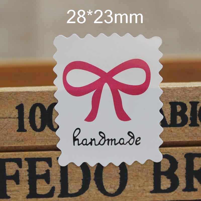 100 шт ручной работы с любовь стикер печать этикетка белый/крафт бумага самоклеющиеся подарки/продукты ярлычок для примечания стикер Размер 3 см