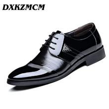 DXKZMCM Cuero Genuino de Los Hombres Zapatos de Vestir, Con Cordones Ocasionales Planos de Los Hombres, Zapatos de Goma de Los Hombres de alta Calidad, Los Hombres de cuero de Oxfords