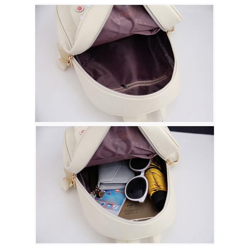 Backpack Female 3 Piece Combination Composite Bag Bear Hanging Inlaid Imitation Diamond Tassel Fashion Casual Shoulder Bag 46