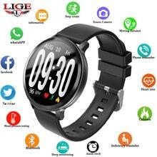 LIGE Smart health watch Activity Fitness tracker HR Blood oxygen pressure Clock Men women smart band Waterproof bracelet